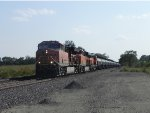 BNSF 3883 (GE ET44C4) leads EB Mixed Freight